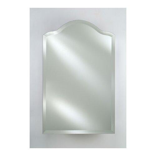Radiance Scallop Top Frameless Wall Mirror