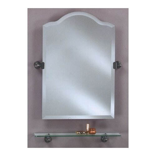 Scallop Frameless Top Bathroom Mirror