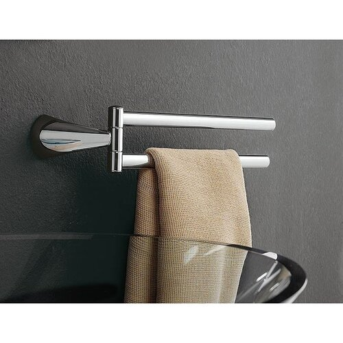 Toscanaluce by Nameeks Kor Wall Mounted Swivel Double Towel Rail