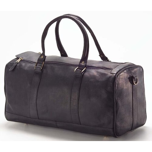 "Clava Leather Vachetta Barrel 19"" Leather Carry-On Duffel"