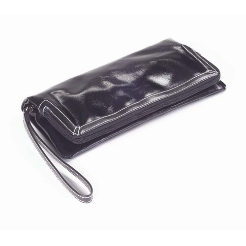 Clava Leather Wellie Foldover Wristlet