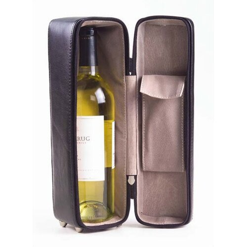 Clava Leather Tuscan One Bottle Wine Holder