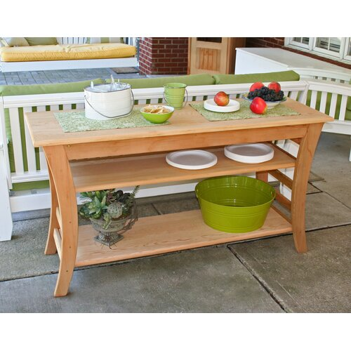 Creekvine Designs Cedar Entertaining Buffet Table