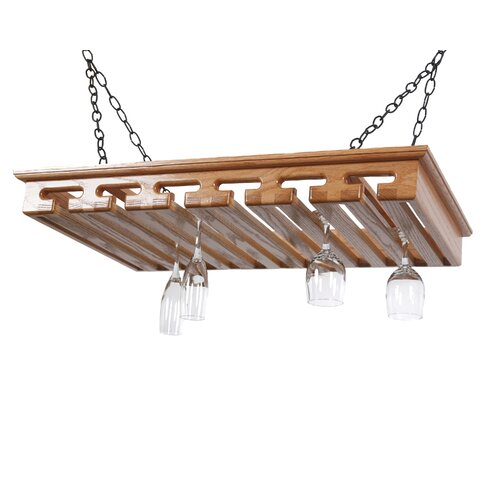 Laurel Highlands Woodshop 24 Hanging Wine Glass Rack