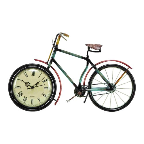 UMA Enterprises Urban Trends Cycle Wall Clock