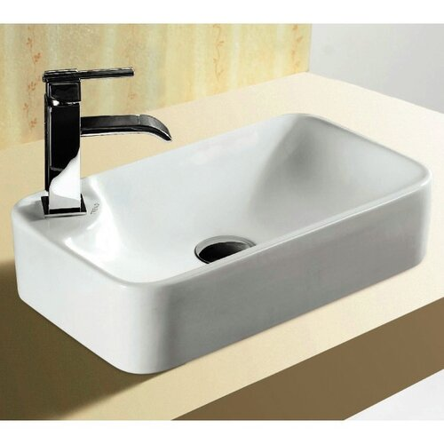 Bathroom Sink Rectangular : Caracalla Ceramica Rectangular Vessel Bathroom Sink & Reviews ...