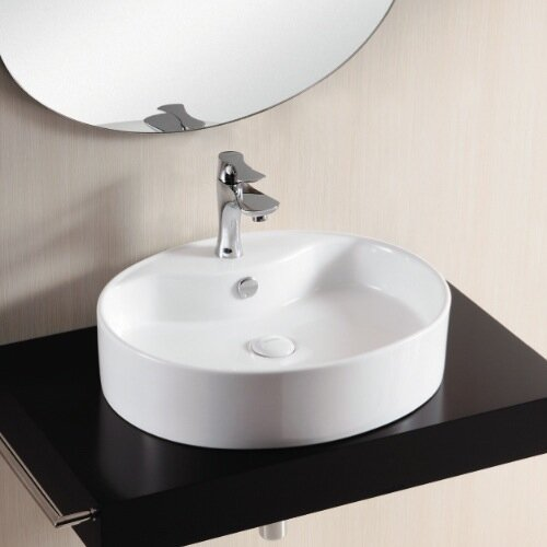 Ceramica II Bathroom Sink with Flat Basin