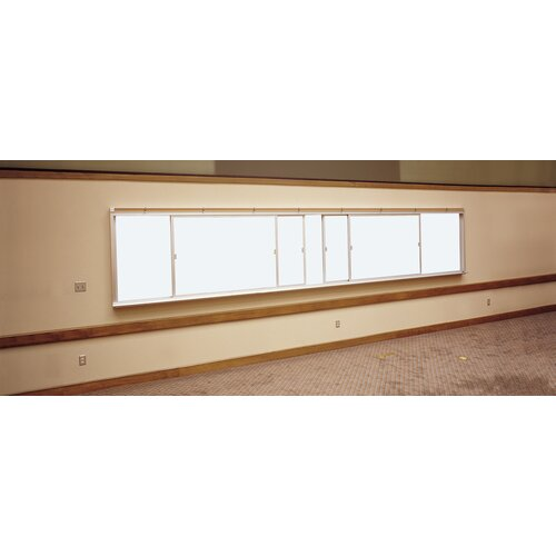 Claridge Products Two-Track Horizontal Unit 4' x 16' Whiteboard