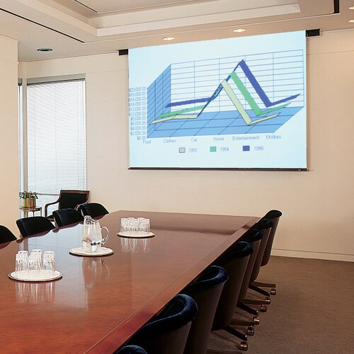 Claridge Products Aristocrat Matte White Electric Projector Screen