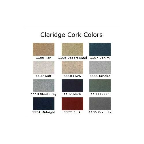 Claridge Products Classic Series Bulletin Board Cabinet with Cork