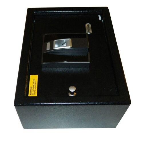 """Viking Security Biometric 4.75"""" Drawer Safe in Black"""