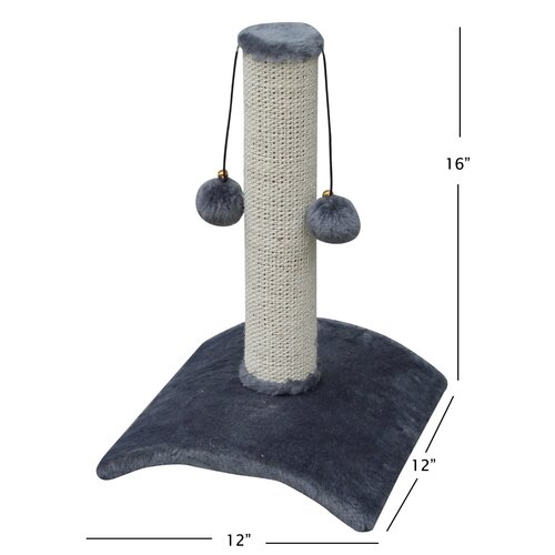PetPals Recycled Paper and Jute Arched Scratching Post