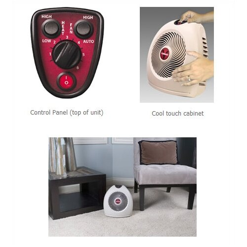 Vornado 750 Watt Fan Forced Compact Electric Space Heater