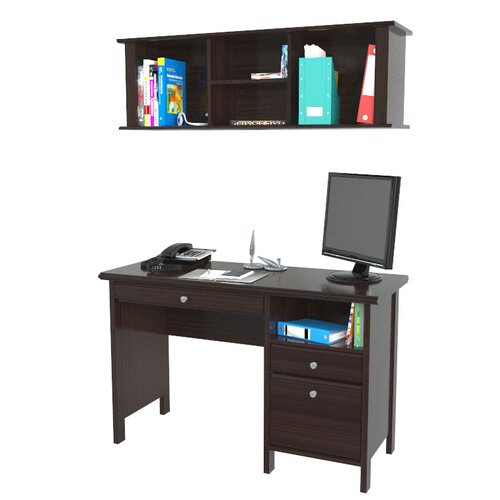 "Inval Wall-Mounted 14.94"" H x 47"" W Desk Hutch"