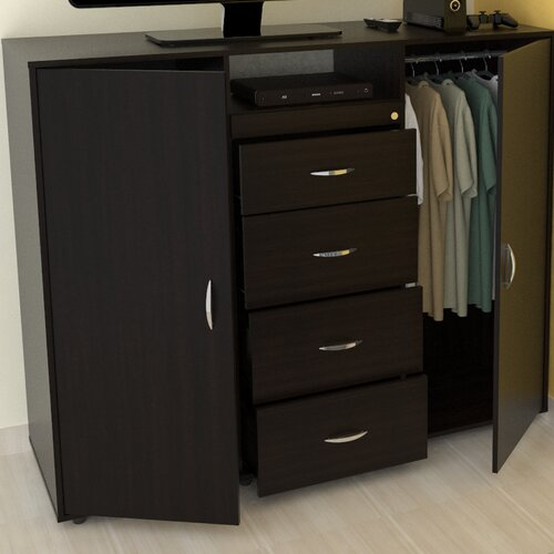 """Inval 57"""" TV Stand with Armoire"""