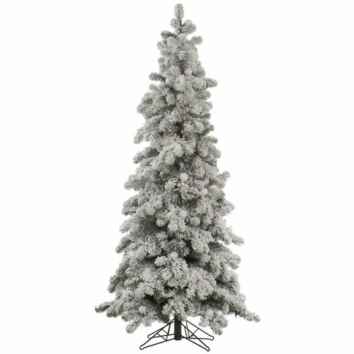 8 Ft Flocked Christmas Tree: Flocked Kodiak 8' White Spruce Artificial Christmas Tree