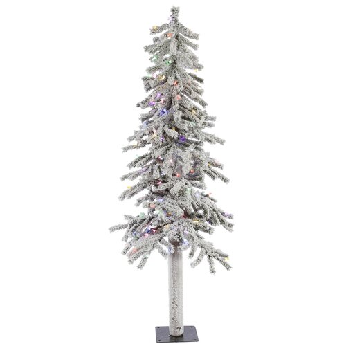 vickerman flocked alpine 5 39 white artificial christmas
