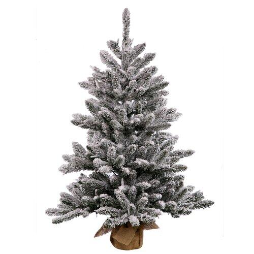 Flocked Anoka 2 5 Grey Artificial Christmas Tree Wayfair