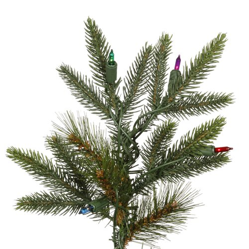 Vickerman Co. Shawnee Fir 8' Green Alpine Artificial Christmas with 450 Multicolored Lights with Stand
