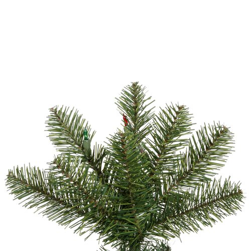 Vickerman Co. Salem Pencil Pine 4.5' Green Artificial Christmas Tree with 110 Multicolored LED Lights with Stand