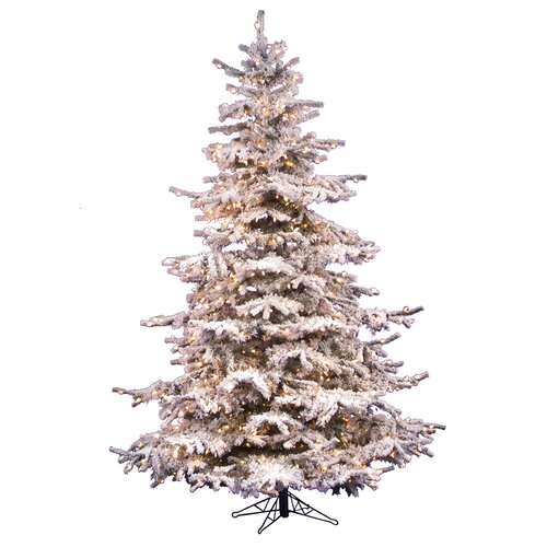 Vickerman Flocked Sierra Fir 7 5 White Artificial