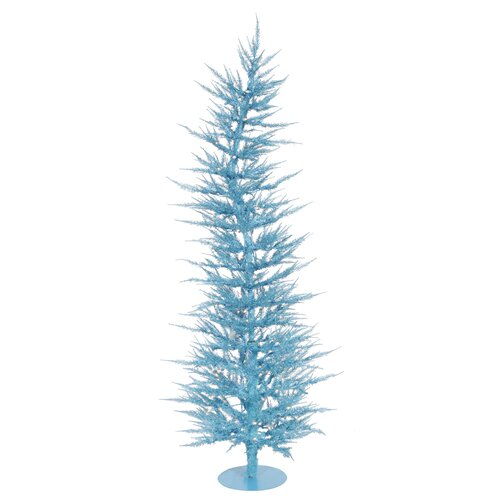 Colorful Laser 4' Sky Blue Artificial Christmas Tree with 70 Lights