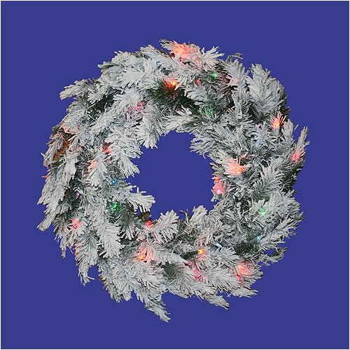 "Vickerman Co. 30"" Prelit Flocked Alaskan Wreath"