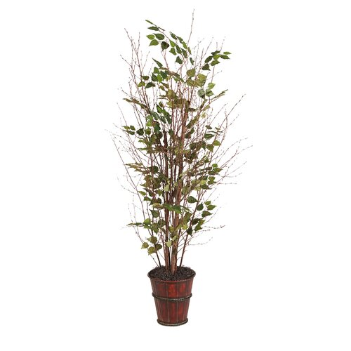 Vickerman Co. Natural Wood Birch Tree in Pot