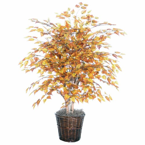 Vickerman Co. Blue Golden Birch Tree in Basket