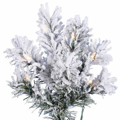 Vickerman Co. 7' White Pine Artificial Christmas Tree with 450 Clear Lights and Flocked