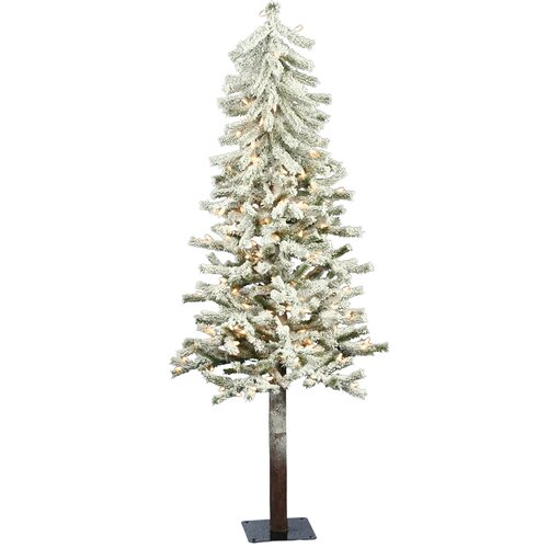 Artificial christmas tree with 100 clear lights amp reviews wayfair