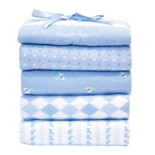 Flannel Receiving Blankets (Set of 5) (Set of 5)