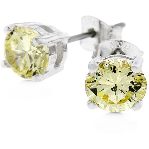 Kate Bissett Sterling Silver Cubic Zirconia Studs Earrings