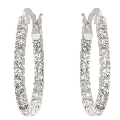 Kate Bissett Round Cut Clear Cubic Zirconia Cielo Earrings