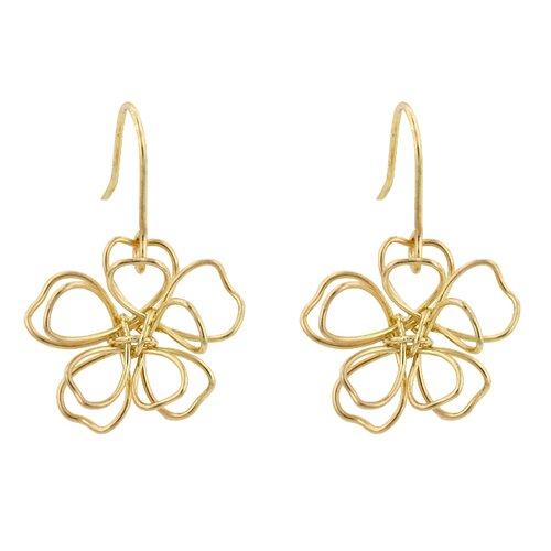 Kate Bissett Gold Peace Flower Earrings