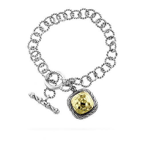 Kate Bissett Two Tone Designer Inspired Cable Link Bracelet