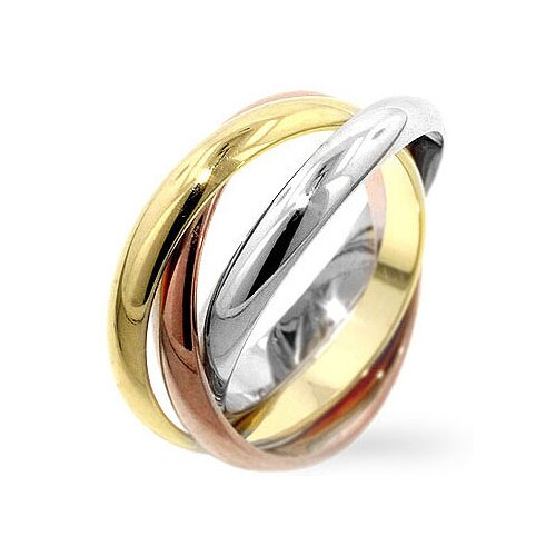 Tri-Toned Trinity Ring