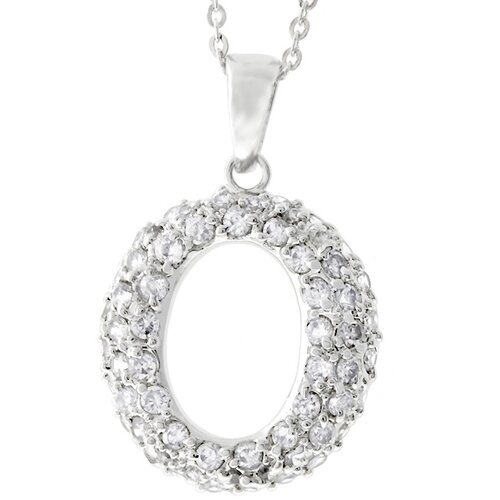 Kate Bissett Cubic Zirconia 'O' Necklace