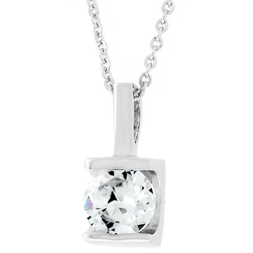 Kate Bissett Large Cubic Zirconia Pendant with Chain