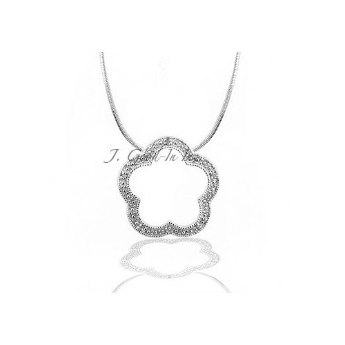 Kate Bissett Diamond Chip Flower Necklace