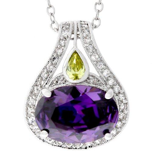 Large Purple Cubic Zirconia Necklace