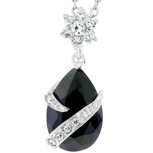Kate Bissett Pear Shaped Purple Cubic Zirconia Pendant