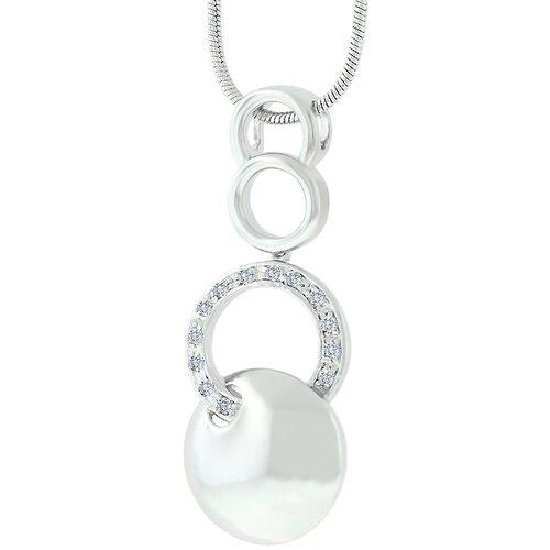 Cubic Zirconia Circle Fashion Necklace
