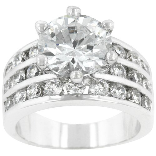 Kate Bissett Round Cut Cubic Zirconia Engagement Ring