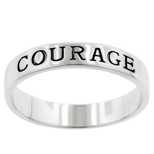 Sterling Silver Symbolic Courage Ring Band