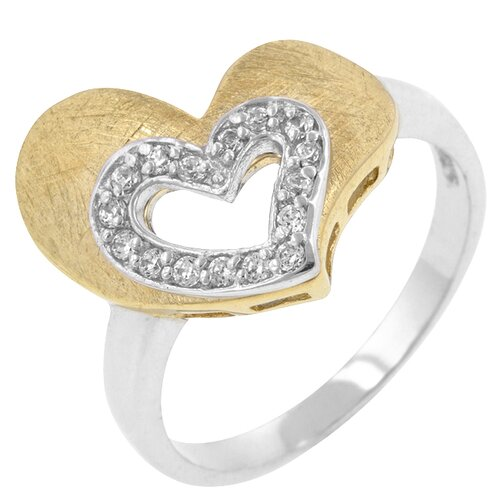 Kate Bissett Clear Cubic Zirconia Fabulous Heart Ring