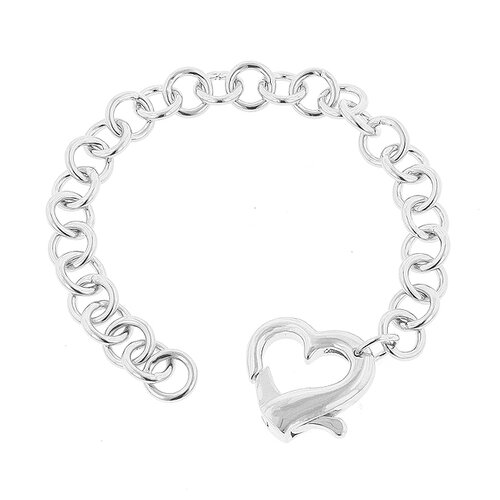 Kate Bissett White Gold Rhodium Heart Bracelet