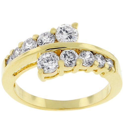 Gold-Tone Journey Cubic Zirconia Ring