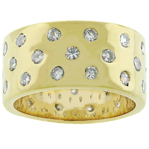 Kate Bissett Gold-Tone Embedded Cubic Zirconia Eternity Ring