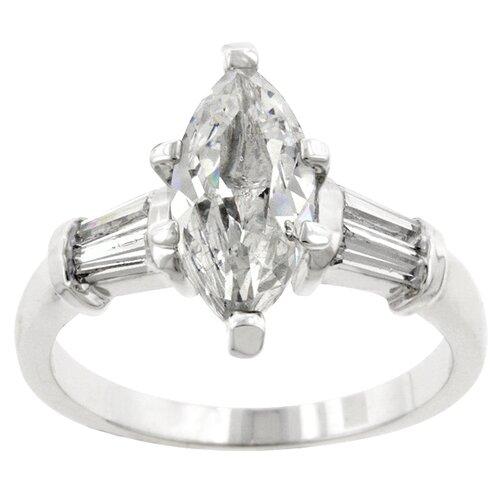 Clear Cubic Zirconia Princess Leilani Ring